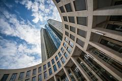 Vertigo (Bastian.K) Tags: frankfurt voigtländer nder 12mm 56 sony a7r a7rii manual lens rf rangefinder alpha7 alpha alpha7s voigtlander architecture blue sky heaven cloud clouds cloudy himmel wolken blauer skies