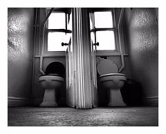 "Togetherness  ;-)) (CJS*64 ""Man with a camera"") Tags: blackwhite bw blackandwhite whiteblack whiteandblack mono monochrome cjs64 craigsunter cjs craig toliets washroom loo bog two wc"