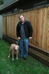 Cookie and me (walneylad) Tags: cookie dog canine pet oldgirl goldenretriever passing restinpeace rainbowbridge sadness november fall autumn