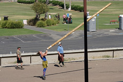 You Go Girl! (charlottes flowers) Tags: highlandgames scottishgames cabertoss heavyathletics caledoniangames