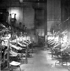 Linotype Room at Kansas City Star (MSA) (MissouriStateArchives) Tags: office technology computers laborday printers officeworkers