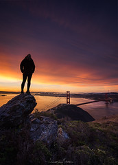 Guardian (_JonathanMitchellPhotography_) Tags: sanfrancisco california storm west northerncalifornia clouds sunrise coast model rocks glow marin goldengatebridge baybridge bayarea headlands westcoast sanfranciscophotography