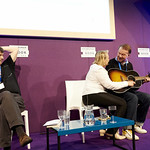 Edwyn Collins & Grace Maxwell with their Chair Ian Rankin
