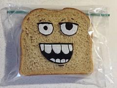 Hey! (D Laferriere) Tags: art face bag dad drawing sandwich attleboro laferriere kritzels