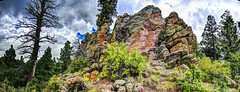 Mount Taylor Rock Outcropping (JoelDeluxe) Tags: panorama newmexico forest landscape mt mount national taylor nm joeldeluxe hdr cibola sept2015 sanmateospring