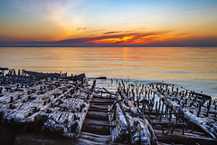 Jason and the Argonaughts (The Charliecam) Tags: sunset fog michigan greatlakes shipwreck upperpeninsula lakesuperior 24105 picturedrocks canon6d michigansupperpeninsula