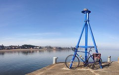 Musselburgh Harbour dragon pano (billyrosendale) Tags: summer bike bicycle cycling scotland edinburgh harbour x biking planet latesummer musselburgh kaffenback musselburghharbour
