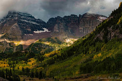 Maroon Bells, Aspen (Laurie-B) Tags: autumn panorama usa mountain west fall bells america landscape us colorado maroon united unitedstatesofamerica north central september direction american northamerica states mountainside aspen maroonbells northamerican 2015 explored ordinal dpca