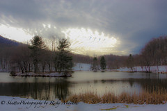 Otter Lake (Shutter Photography & Hot Rod Images) Tags: lake snow water blueridgeparkway peaksofotter canon50d