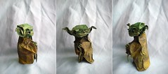 Jedi master Yoda by Fumiaki Kawahata (Nikita Vasiliev) Tags: old film movie star origami force yoda alien master jedi wars kawahata fumiaki