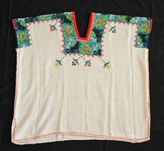 Purepecha Huipil Michoacan Mexico (Teyacapan) Tags: animals mexico embroidery mexican textiles michoacan bordados purepecha cocucho