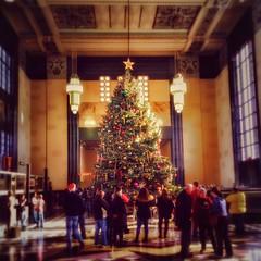 O' Tannenbaum (vwcampin) Tags: christmas holiday tree museum nebraska durham christmastree ne trainstation omaha happyholidays merrychristmas oldmarket tannenbaum iphone tistheseason durhamwesternheritagemuseum iphoneology iphonology