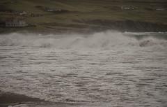 Beachend (DSC_6936) (AngusInShetland) Tags: scotland gale spray shetland galeforce levenwick