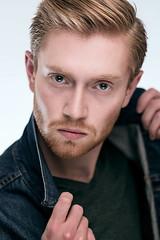 Bo - Jean Jacket (jeffrey equality brooks) Tags: chicago headshot redhead blonde redhair