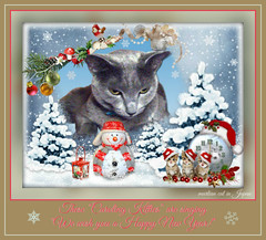 "These ""Caroling Kitties"" are singing ""We wish you a Happy New Year!"" (martian cat) Tags: christmas pet macro cat cards kitty newyears inspirational merrychristmas caption allrightsreserved happynewyear russianblue motivational feliznavidad megumi kittycat buonnatale motivationalposter glcklichesneuesjahr felizaonuevo bonneanne joyeuxnol kurisumasuomedeto buonanno allrightsreserved  martiancatinjapan allrightsreserved   martiancatinjapan martiancatinjapan frhlichiwiehnacht omedettogozaimasu allrightsreserved martiancatinjapan captioncollection"