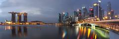 First Light (arctos0384) Tags: sunrise singapore jubileebridge fullertonhotel marinabay