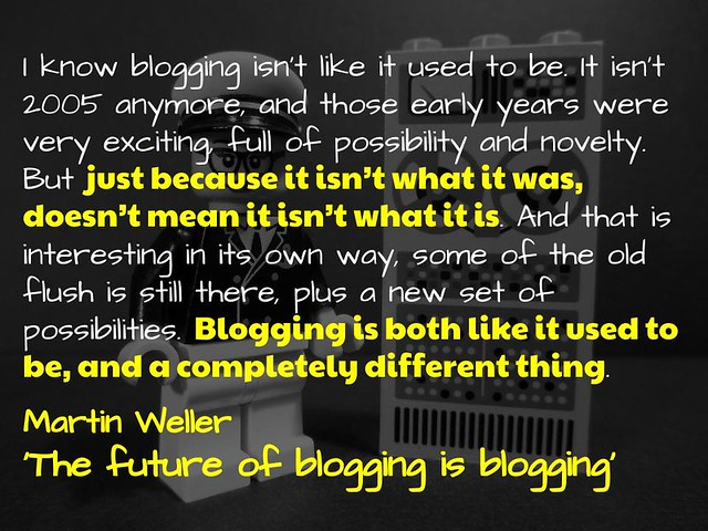 Blogging is Blogging @mweller