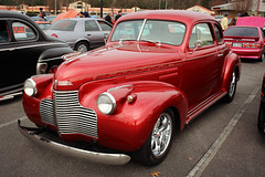 1940 Chevy coupe (osubuckialum) Tags: show cruise red classic cars chevrolet nc 1940 northcarolina chevy 40 coupe carshow garner edit newyearsday redcar 2016 grill57 ipiccy