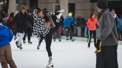 Ice Skating (SauceyJack) Tags: street winter people woman chicago cold cute ice girl person illinois downtown december loop iceskating skating streetphotography overcast tights il skate millenniumpark figureskating downtownchicago leggings 2015 figureskater lrcc canon1dx 7020028isiil sauceyjack lightroomcc