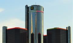 Ren Cen (pinkgengarofficial) Tags: sky building skyline architecture photography nikon gm michigan detroit generalmotors nikond3200 gmbuilding d3200