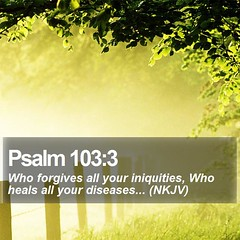 Daily Bible Verse - Psalm 103:3 (daily-bible-verse) Tags: holy respect think pray pastor theway picoftheday