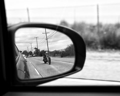 Mirrored rider (J*D) Tags: easy rider motocycle pch mirror reflection black white bnw fujifilm fuji