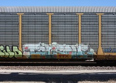 Tars (quiet-silence) Tags: graffiti graff freight fr8 train railroad railcar art tars tarsone aa aacrew autorack