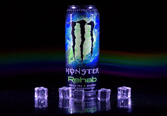 Experimental low light photo shoot - 3 (Tony Worrall) Tags: color cool nice colours colourful shoot shot experimental can monster energy ice cubes icecubes plastic monsterenergy energydrink laser laserlight light lit lights studio studioshoot horizontalbars