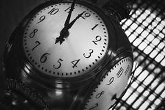 Grand Central Terminal Clock (PJR Photography) Tags: bigapple vacation travel grandcentralterminalclock clock blackandwhite monochrome grandcentralterminal manhattan newyork