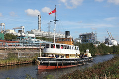 'Daniel Adamson' Weston Point 3rd October 2016 (John Eyres) Tags: daniel adamson lower reaches weaver she approaches marsh lock exit msc 031016 navigation manchestershipcanal