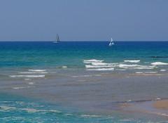 Sailboats on the Mediterranean (assa.raviv) Tags: israel tel aviv mediterranean sailboats