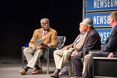 The Newseum's Frank Bond moderates the discussion.
