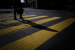 """Day 17/365_Crossing (Frédéric Cottens - Photographie """"brute"""") Tags: basel switzerland crossing penf color shadow day17 365"""