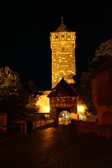 Tower at night (Nancleve) Tags: germany rothenburg vacation walls walledcity halftimbered houses buildings gates