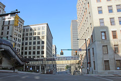 Quiet in Downtown Akron on Sunday Morning (craigsanders429) Tags: akronohio downtownakronohio cities cityscapes city street streets buildings oldbuildings tallbuildings