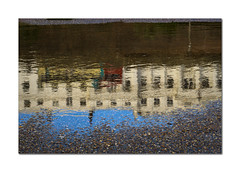 45/52: Photographic clichs (hehaden) Tags: architecture buildings terrace puddle bus reflection seafront brighton sussex 52photos2016