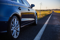 (nzfisher) Tags: audi a3 sedan 50mm canon bokeh blue sunset road field country queensland australia