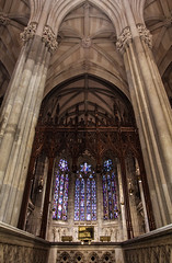 Lady Chapel (Lawrence OP) Tags: newyork stpatricks cathedral arch gothic lady chapel stainedglass windows