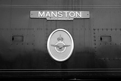 Manston (The Wibbly One) Tags: corfecastle swanagerailway battleofbritainclass crest manston
