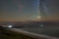 'Rhossili Nightscape' - Gower Peninsula (Kristofer Williams) Tags: night sky stars milkyway astro astrophotography beach coast wormshead rhossilibay gowerpeninsula southwales wales rhossili