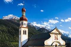 church tower (loop_oh) Tags: heiligervitus alps austria church churchclock fulpmes oesterreich steeple tirol tower österreich ã¶sterreich