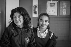 School girls (leoleamunoz) Tags: niña kids retrato blanco blackandwhite blancoynegro monochrome monocromatico monocromo portrait
