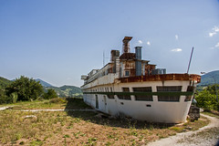 Landed boat (Matthew on the road) Tags: sassoferrato ancona marche italia italy boat ship navy land landed landedboat summer summertime july 2016 july2016 hill hills fake strange weird