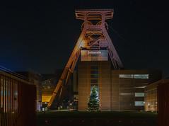 Christmas season at Zeche Zollverein (frankdorgathen) Tags: industry night ruhrgebiet nordrhein westfalen essen city architecture