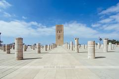 Hassan Tower - Rabat, Morocco (Naomi Rahim (thanks for 2 million hits)) Tags: rabat morocco africa northafrica 2016 travel travelphotography nikon nikond7200 wanderlust summer architecture hassantower bluesky  mosque pillars 1116mm