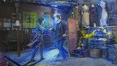 Starry Night Dance (elizunseelie) Tags: people portraits portrait dreamscope deepdream ipad app art colours colors vibrant painting filter burlesque cabaret night scotland glasgow performers sexy sensual costumes