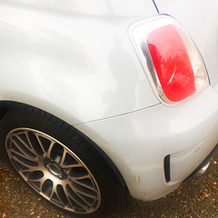 Fiat 500 (Moro972) Tags: 2016 red tail light iphone6 square bianco rosso details italia fiat italy fanale effect 500 white wheels cerchio taillight