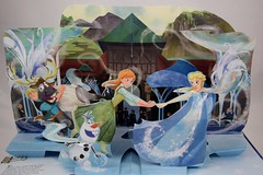 Disney Frozen: A Popup For Adventure by Matthew Reinhart - Disneyland Purchase - Pop-up Set #6 - Main Popup #2 - Anna Ice Skating With Elsa (drj1828) Tags: us disneyland popup frozen matthewreinhart purchase 2016