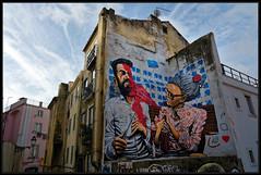Andréa Tarli (Gramgroum) Tags: street art graffiti lisbonne andrea tarli fado bombe spray mamie hipster selfie selfi perche largo archada