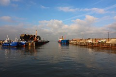 Harbour morning (NovemberAlex) Tags: colour whitstable kent boats water seaside light clouds